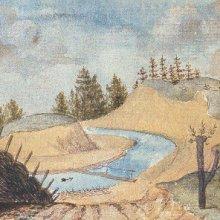 MĀRUPĪTE pie Rīgas pēc plūdiem, tagad Arkādijas parks - 1793.g. Broce