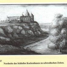Pērse, Kokneses pils no vecāka zīmējuma; J.C.Broce