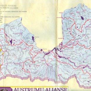 Izdevuma Rietumlatvijas laivojamās upes kopējās kartes daļa