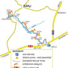 GNP Ģeoloģiskā taka gar Amadu - UPJU TAKAS zem Vidrūpe