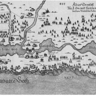 Liepājas ezera apkārtne 1636. gadā